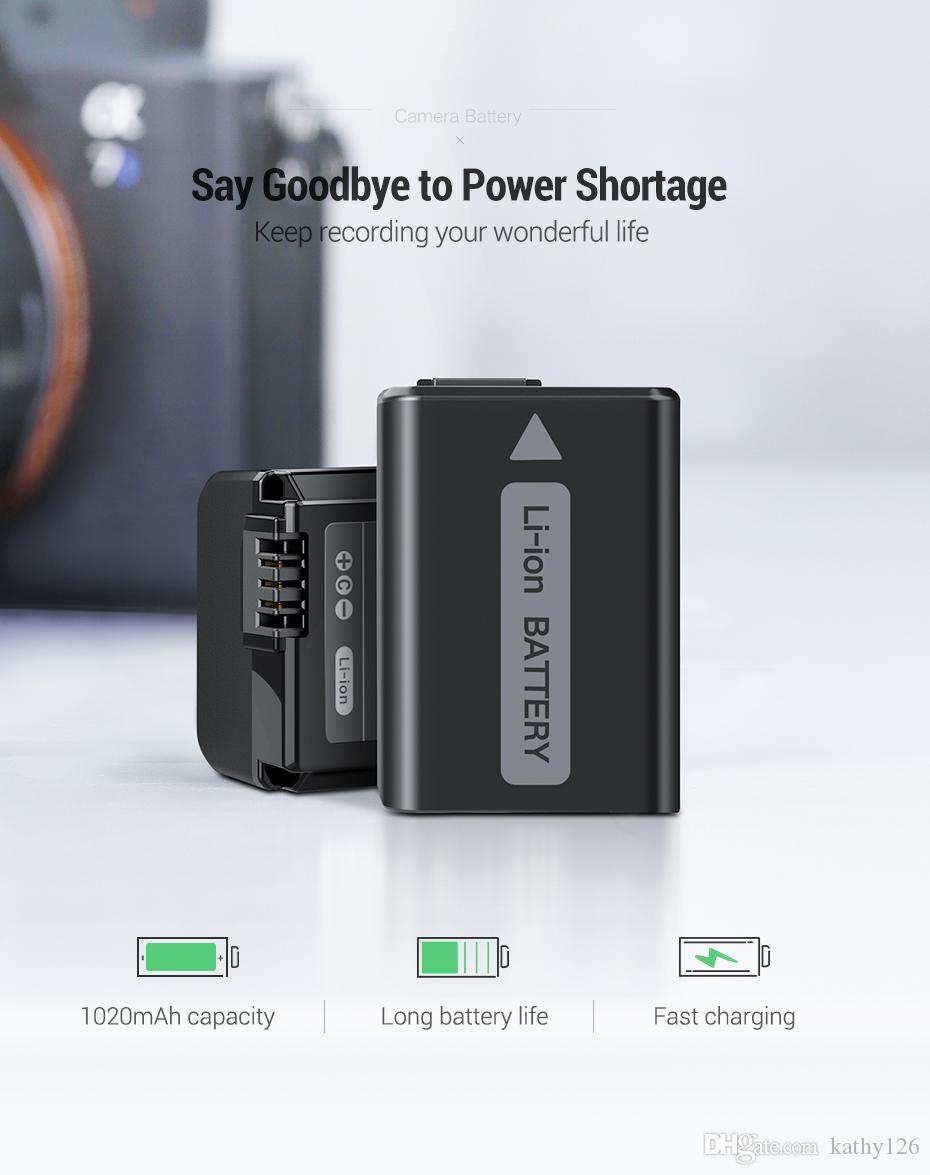 소니 무료 배송 NP-FW50 카메라 배터리 1020mAh는 a7r2 S2 NP FW50 a6500 a6300 A6000 A5000 A3000 NEX-3 QX1 카메라 배터리를 a7m2