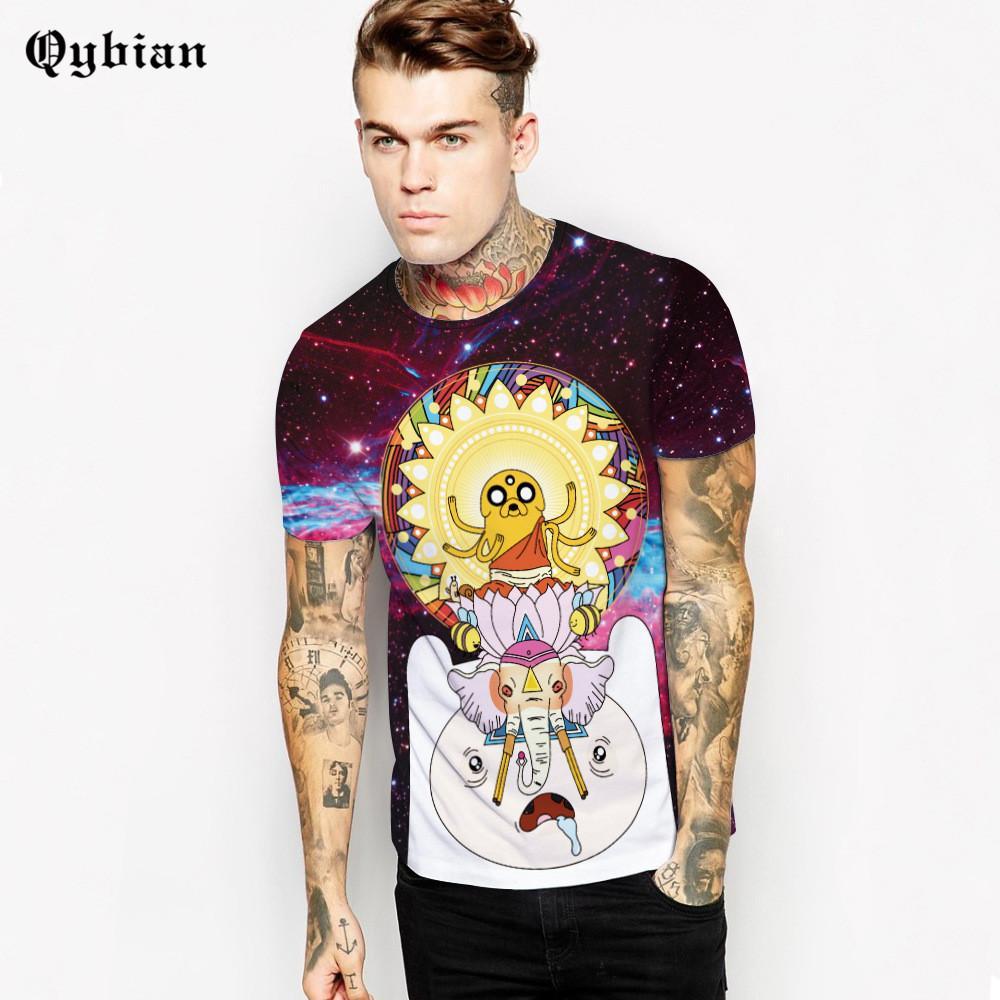 Новый дизайн мужской новинка мужчины футболка Время приключений О-образным вырезом хип-хоп футболка мужчины повседневная короткие рукава мужчины брендовая одежда