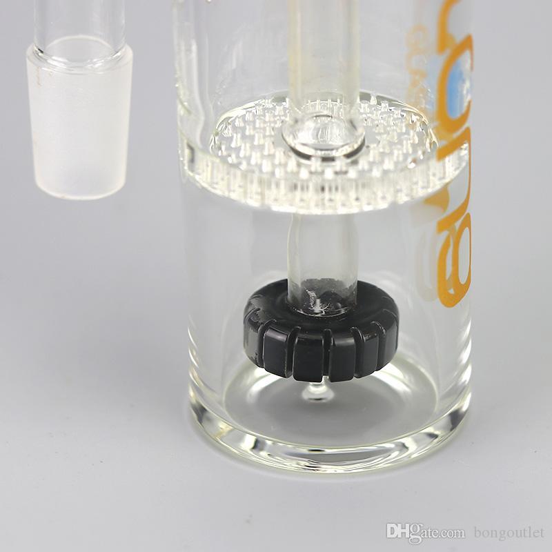 Recycler honeycomb ashcatcher narghilè 18mm doppio percoloratore Bong cenere catchers due funzione bobbler tubi a mano a petrolio petrolifera accessori
