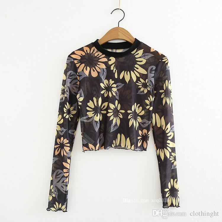 Tuch Sexy Frauen-Spitze Blusen Mesh-Longline toppt gestickten Blumenstrandkleidung beiläufige Art und Weise Sonnenschutz Shirts