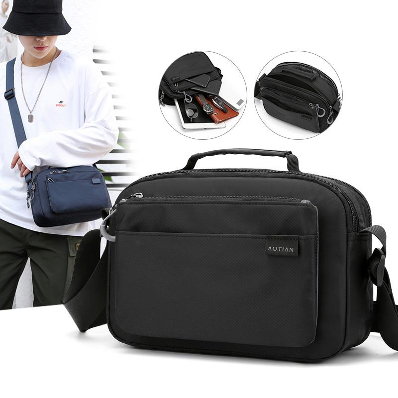 Bolsa Men Shoulder Bag Casul bolsa de viagem impermeável ao ar livre Telefone Bolsa New Fashion Bag por Homem Bandoleira Sacos Pillow bloco