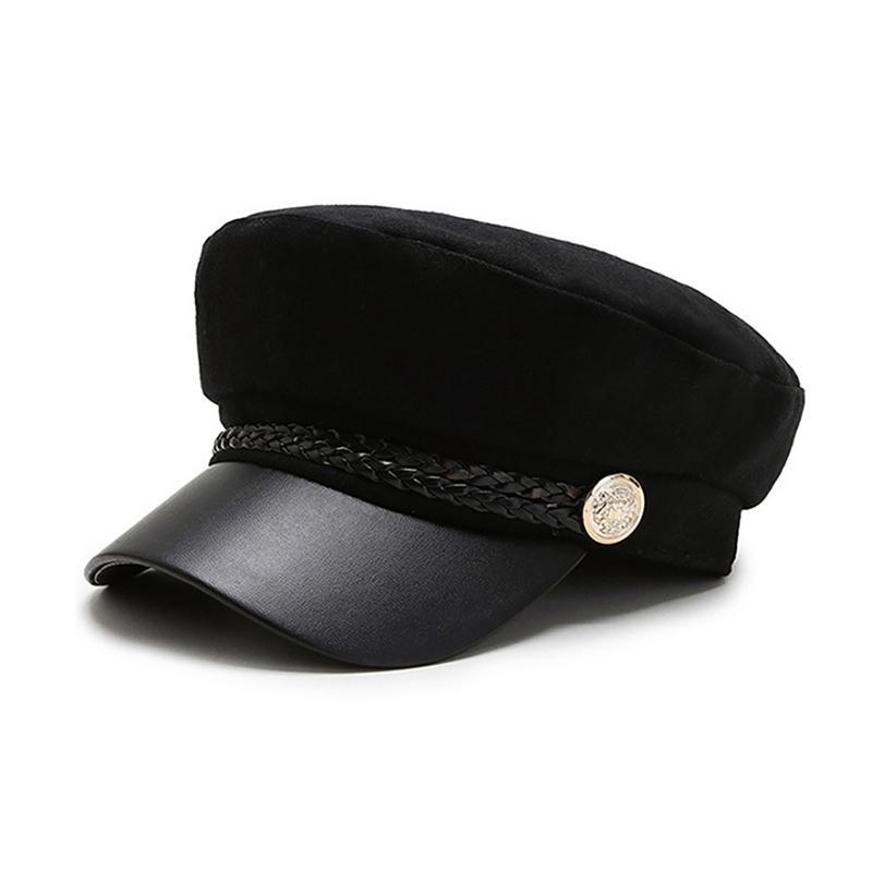 Sport Sweat Absorbent octogonal Chapeau Beret Casquette style britannique Couvre-chef Vêtements Chapeaux d'extérieur Casquettes Courir Automne Hiver chaud