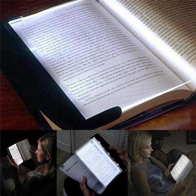 LED Reading Lamp Portable Plate Novelty Eye Protect Book Light Flat Panel Magic Night Vision Light for Home Bedroom dormitory