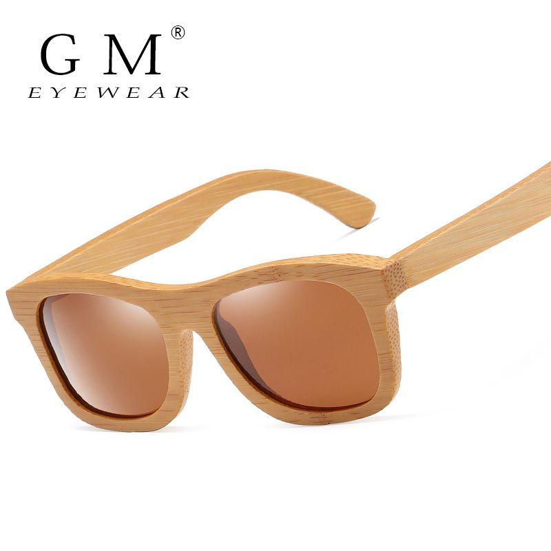 GM legno naturale Polarized dello specchio di modo di bambù di Eyewear di sport occhiali S1725