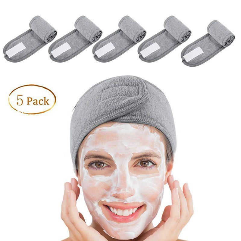 Toalha 5 pcs headband facial spa compõem o trecho de pano de terry da cabeça do envoltório com