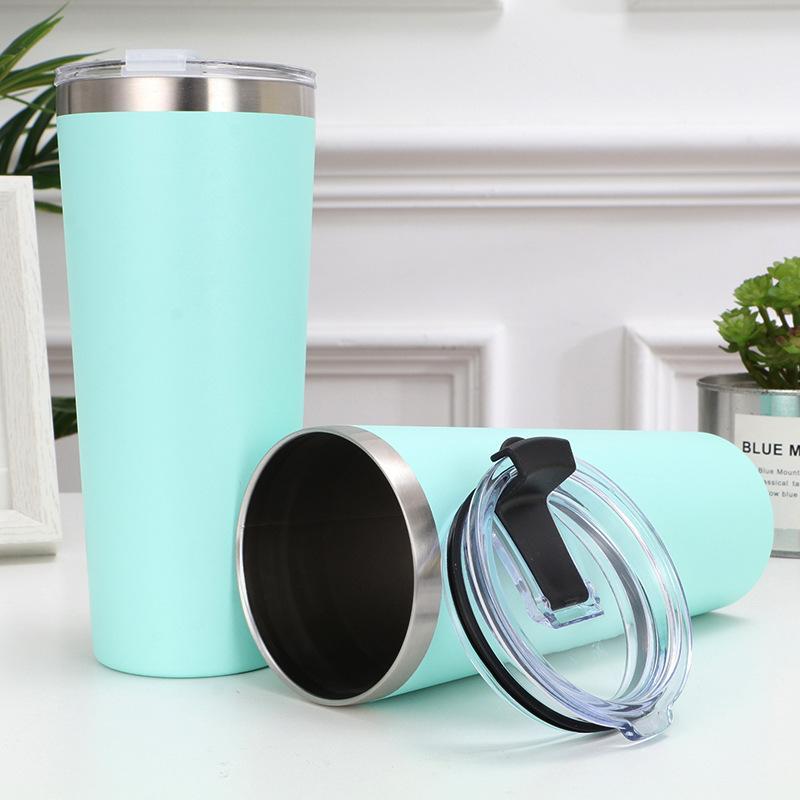 30온스 스테인레스 스틸 텀블러 진공 스트레이트 컵 테이퍼 컵 맥주 커피 잔 와인 안경 뚜껑 금속 물 병 GGA2704을 절연