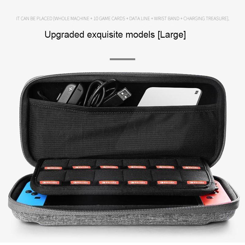 Nintendo Anahtarı Konsol Kılıf Dayanıklı Oyun Kartı Çantası Kılıf Sert EVA Taşıma Çantası için de Çantası Koruyucu Taşıma Kılıfı Taşınabilir kabuk