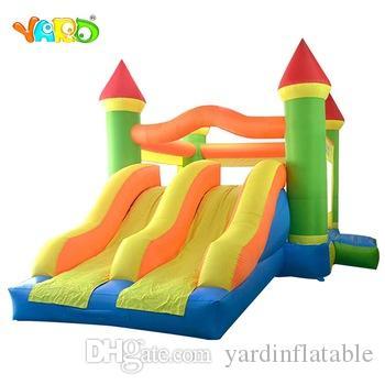 Jardim Home Uso Inflável Bouncy Castelo Inflável Bouncer Casa Jumping Slide Trampoline Duplo com Blower Grátis
