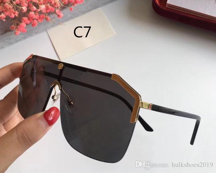 Top Sport Sunglass Männer onepiece 2020 Frauen Aufmaß Goggle Form Schild-Masken-Sonnenbrille Sexy Retro Außen Reise Lentes De Sol Mujer