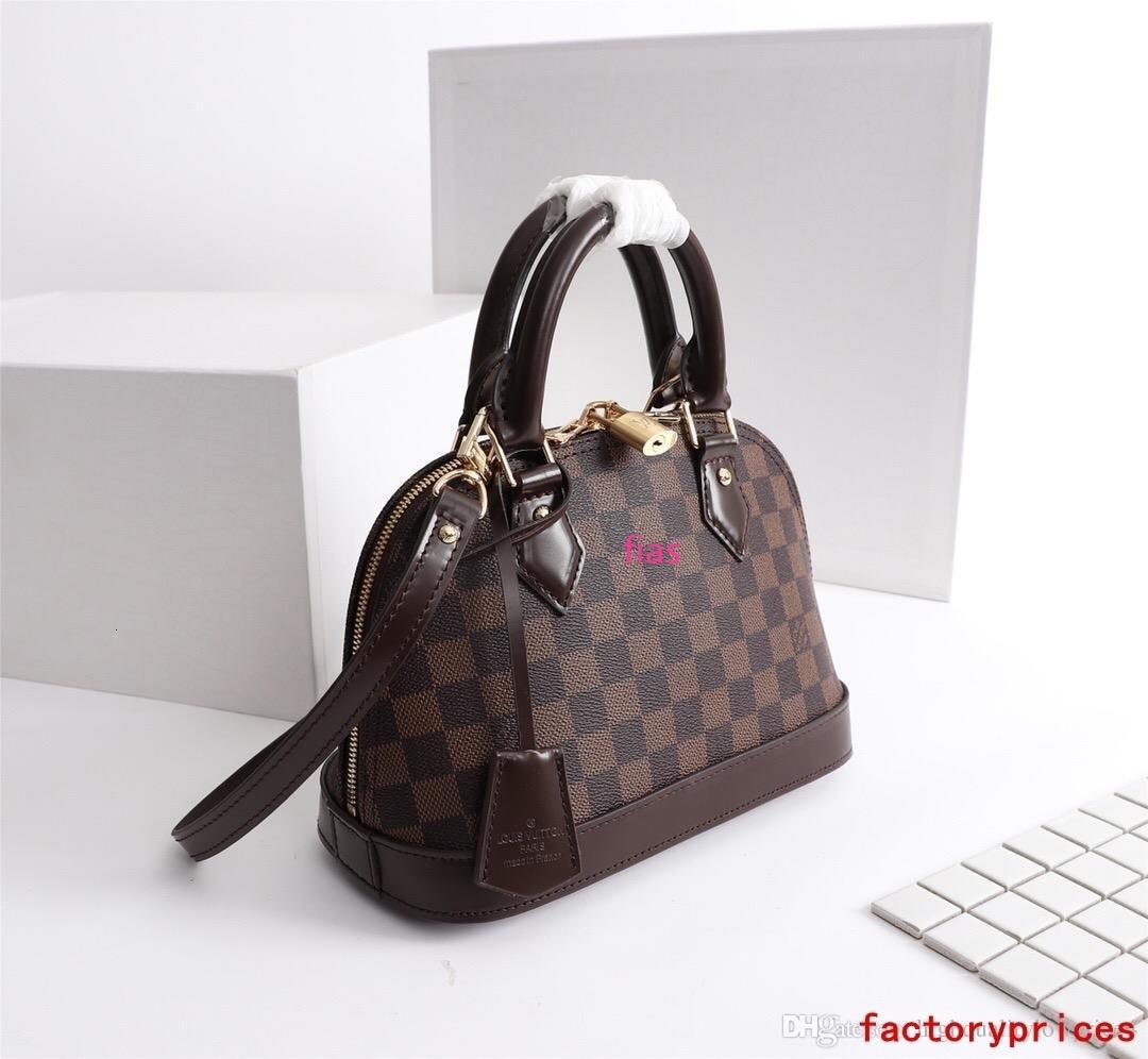 Hot femmes lettre brun classique sac hommes de mode en cuir taille du sac shouler gratuit shippingM53152 25-19-12