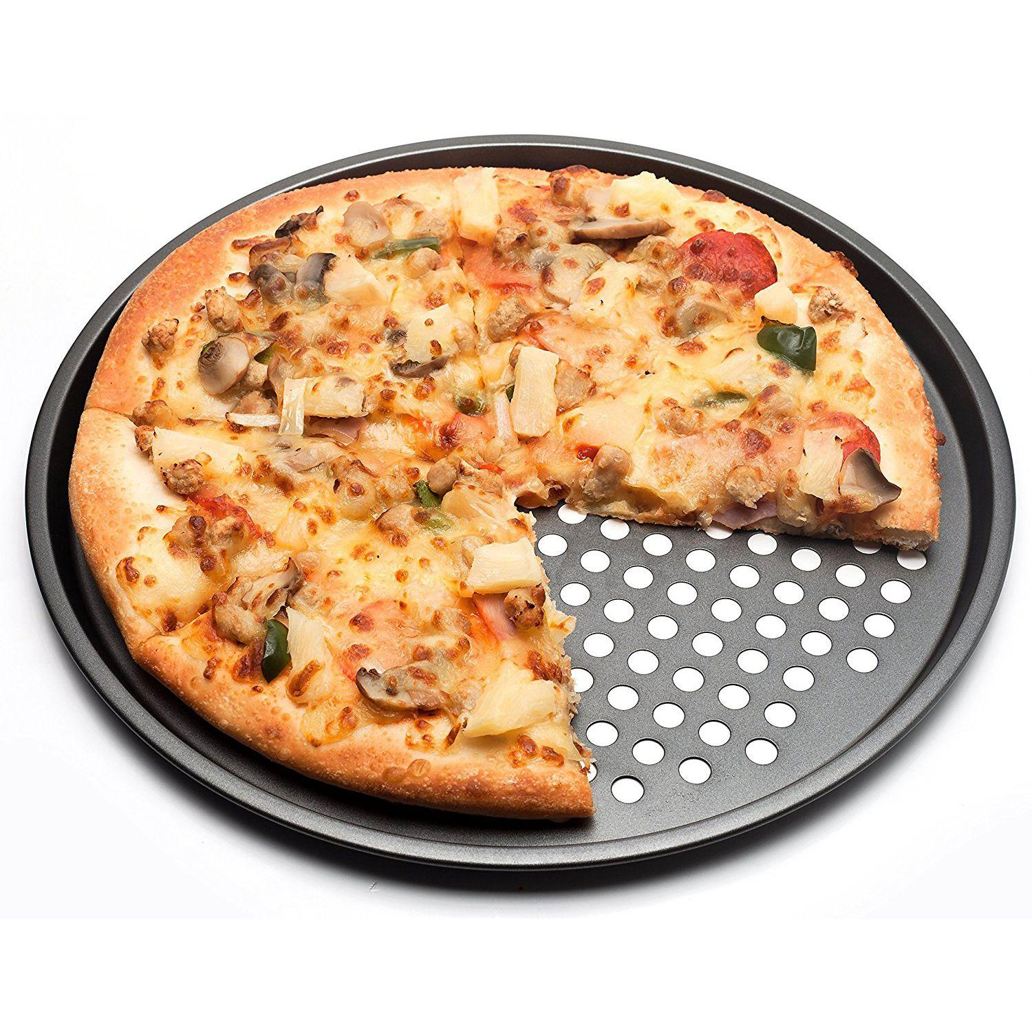 Cake tools Carbon Steel Nonstick Pizza Baking Pan Tray 26cm 28cm 32cm Pizza-Plate Dishes Holder Bakeware Home Kitchen Accessories