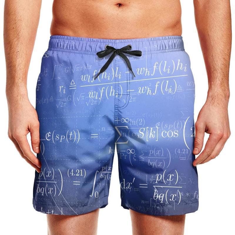 Männer-Badehosen mathematische Gleichungen Wissenschaft Formeln laufen schnell trocknend Board Shorts benutzerdefinierte Grün Physik elektrischen Gleichungen Formel