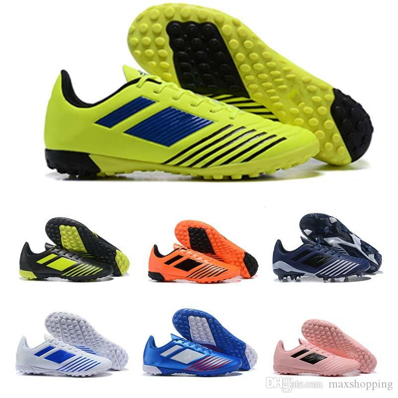 Copa Predator 19.4 TF Football Boot Fluorescent Green Pink Soccer Shoes for High quality Black Blue Green Orange Mens Sneakers Size 39-45