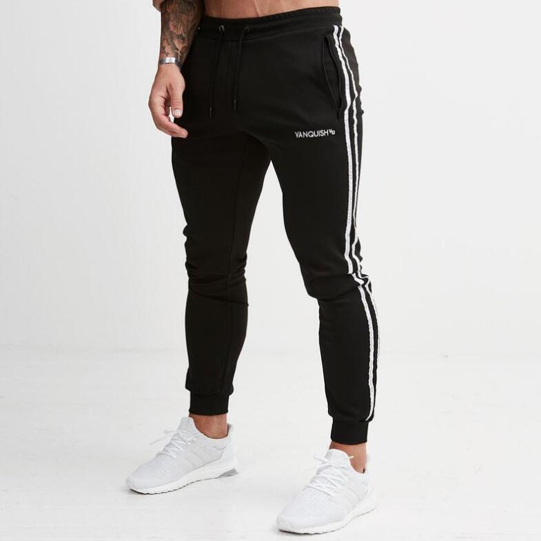 Pantalones casuales para hombre Pantalones deportivos para hombres Ropa deportiva Chándal Pantalón pitillo Pantalón de chándal Pantalones Gimnasios negros Pantalones de chándal de chándal