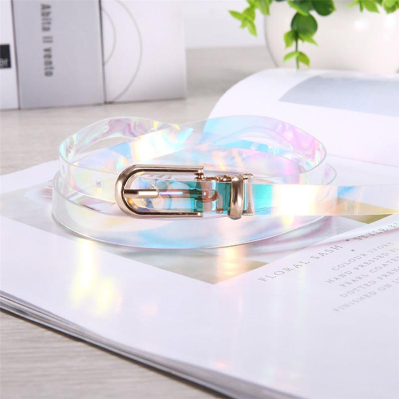 Female Fashion Transparent Pin Buckle Wide Waist Bands Waistband Apparel Accessories Invisible Punk Waist Belts