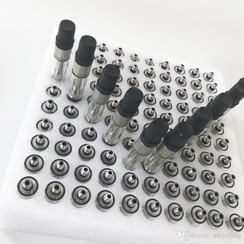 Empty Vape Cartridges Packaging 0.8ml Oil Cartridge 1ml Ceramic Carts Dab Pen Wax Vaporizer 510 Thread E Cigarette Atomizer