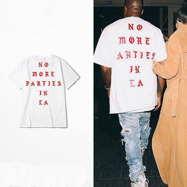Dropshipping New 2018 Hot S Hip Hop Kanye West I Feel Like Paul 100% Cotton Tshirts No More Parties In La T Shirts Men Women Tee SH190629