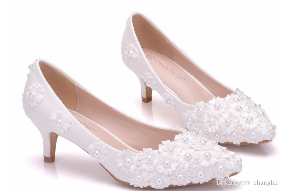 scarpe 2019 delle donne in primavera e in autunno con il nuovo stile tacco alto sottile tacco estremità appuntita Fiore @ QWER361