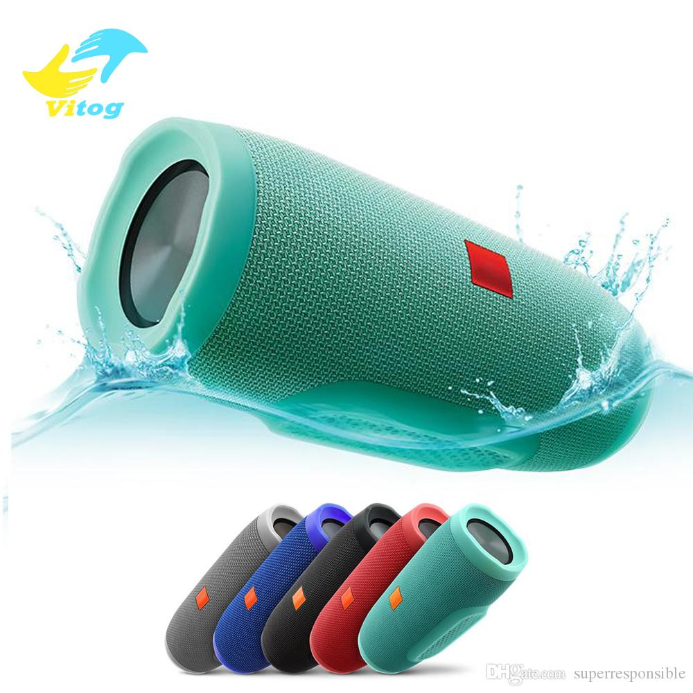 vitog Mini Portable Wireless Bluetooth Speaker Stereo Speakerphone Radio Music Subwoofer Column Speakers support TF AUX