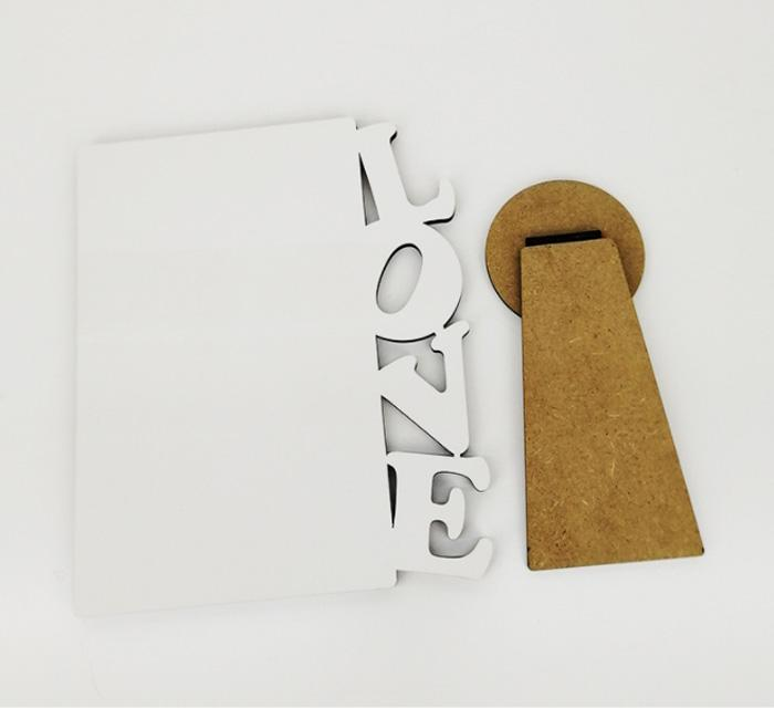 Photo Frame DIY MDF blank Sublimation heat press print picture board plate for Wedding can customize your photo 100pcs free shipping