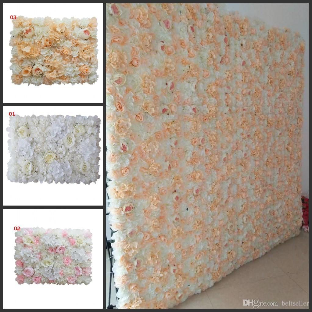 12p جيم / الكثير 60x40cm كل قطعة لوحات الفاوانيا الكوبية روز زهرة الجدار لخلفية زفاف يرتكز حزب ديكور