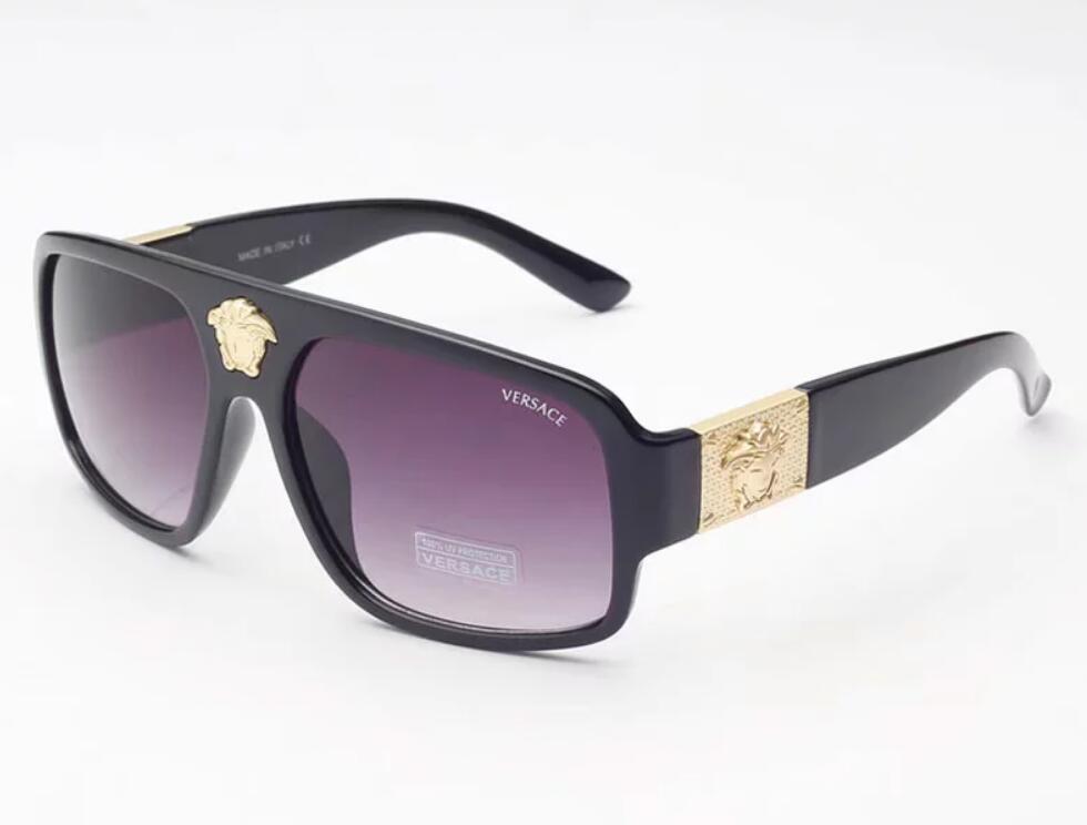 Lenti ad alta Occhiali da sole classici pilota di marca del progettista delle donne degli uomini di vetro di Sun di Eyewear del metallo dell'oro verde di vetro di caso Brown 5015