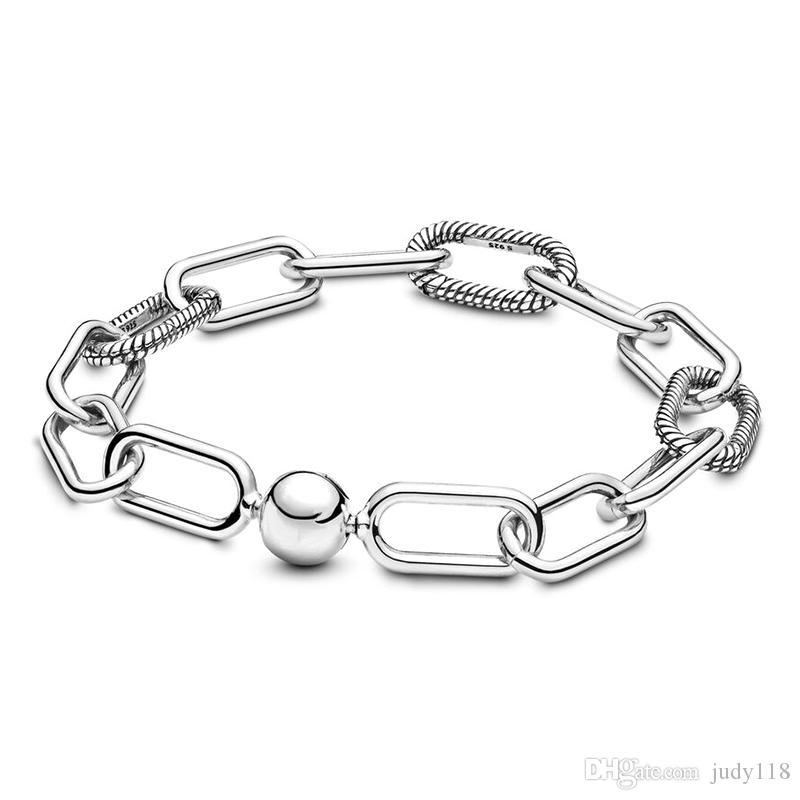 Memnon Jewelry 2019 Nuevo Plata 925 Sterling Me Enlace Pulseras Para Mujeres Ajuste Pequeño Agujero Encantos Beads Para Mujeres Original DIY Joyería Regalo
