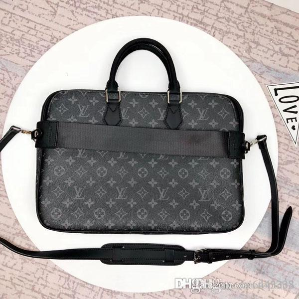 # 3180 5A L Marca V DANDY SLIM Briefcase borsa degli uomini di Crossbody Bag Portfolio Cartelle Top Borse maniglie spalla Totes Croce Body Bag N63298
