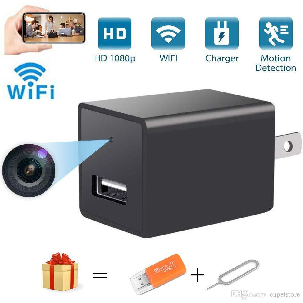 1080P HD USB التوصيل كاميرا Z99 شاحن لاسلكي واي فاي كاميرا IP P2P AC / DC مقبس محول واي فاي كاميرا مراقبة مع كشف الحركة