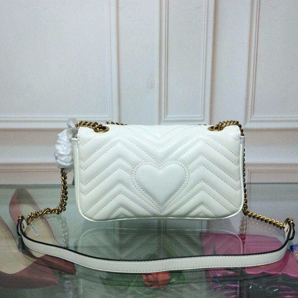 Yeni Marka Marmont Temel kadın omuz çantası Moda klasik tasarımcı çanta Hakiki deri çanta boyutu 26 * 16 * 7 cm 3 renk modeli 175244837