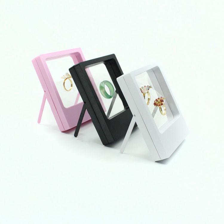 شفاف عرض مجوهرات صندوق الدائري المعلق حامل العائمة حالة مجوهرات معدنية الأحجار الكريمة والمجوهرات حامل حالات 60PCS CCA11863-C
