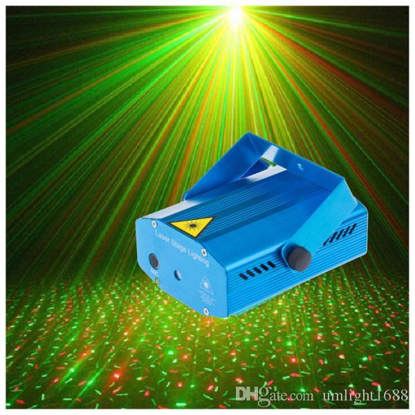 Umlight1688 Mini-LED-Laserprojektor Weihnachtsschmuck Disco Light Bühnenlichteffekt Dj Voice-Activated Xmas Party Club Hochzeit