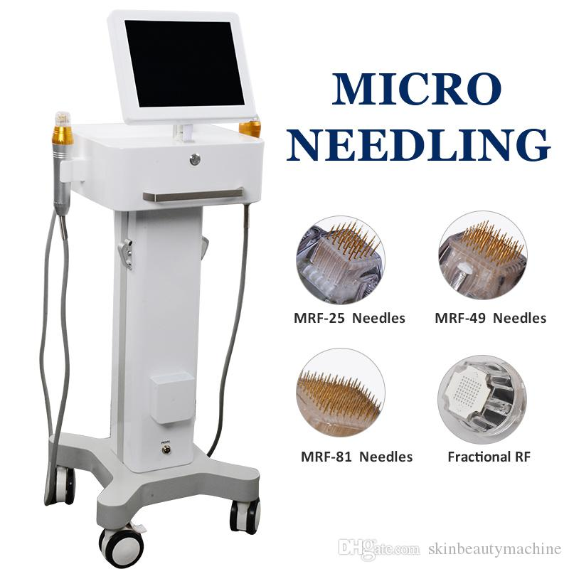 2019 microneedling Vergetures Removal Machine fractionnel RF Face Lift Rides Anti vieillissement Microneedle acné Scar Removal