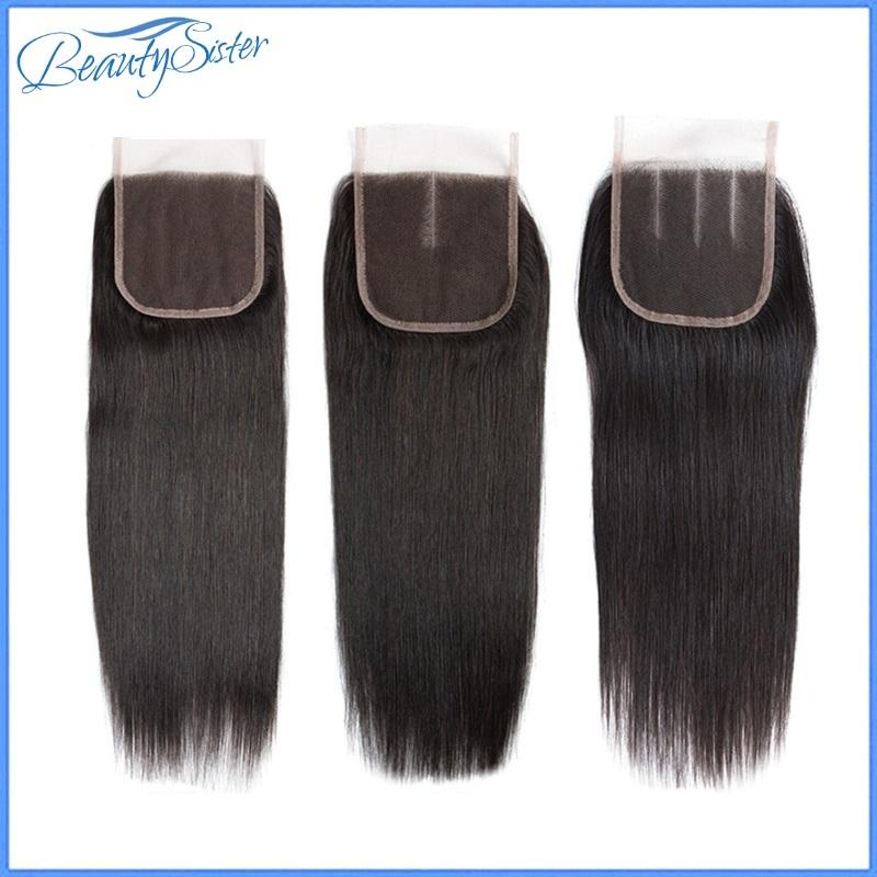 10A Unprocessed Peruvian Virgin Human Hair Lace Clousre 4*4 Straight Natural Color Swiss Lace Remy Hair Grade Match 9A 10A Hair Bundles