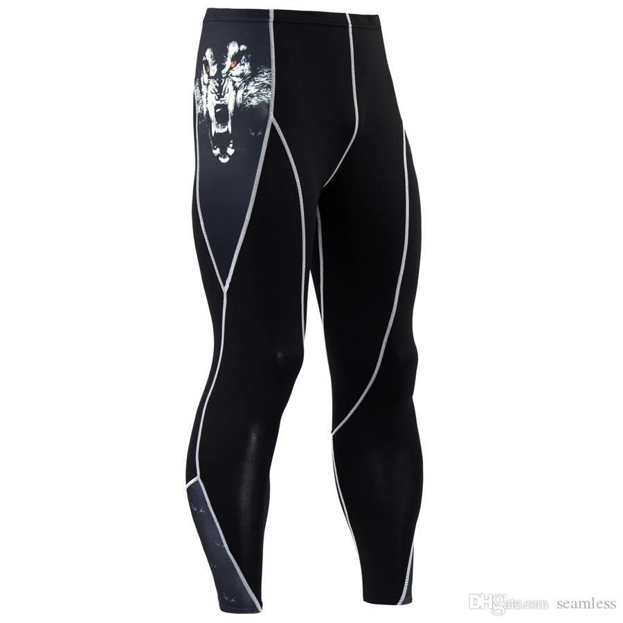 Wholesale Running Compression Pants Tights Men Sports Leggings Fitness Sportswear Long Trousers Gym Training Pants Skinny Leggins Hombre