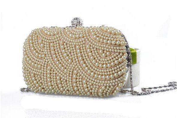 2020 New Pearl Diamond Evening Bag Wedding Bridal Clutches Party Dinner Purse Chains Handbag Borsa
