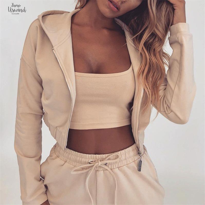 그리고 가을 여름 두 조각 세트 후드 탑 바지 운동복 여성 탄성 허리 레저 2 종 세트 여성 의상