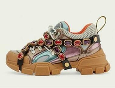 botas de los calzados informales de los cristales desmontables mujer de los hombres zapatillas de deporte zapatos que suben al aire libre para hombre con Crystal cadena P1