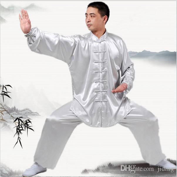 Nuevos uniformes Kung Fu chino de manga larga ropa de Tai Chi Corea del Sur artes marciales traje del funcionamiento de wushu Traje 7Colors ropa al aire libre