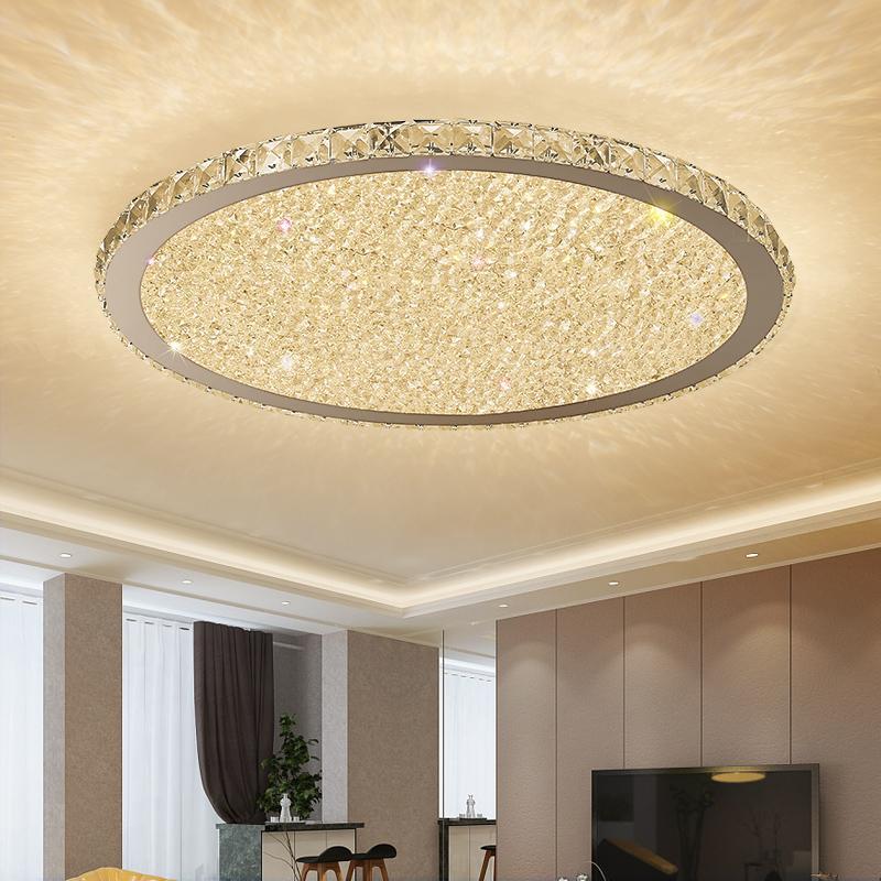 lustres de cristal modernos Luzes Home Lighting LEDlamp Sala Quarto plafonnier Rodada levou luminárias Lampadari lustre