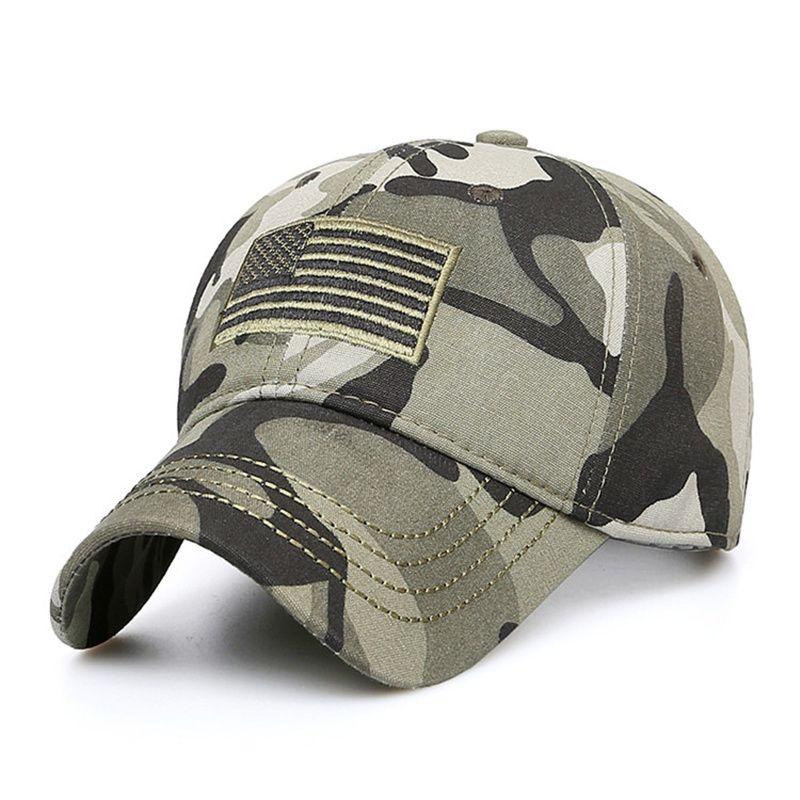High Quality USA Flag Camouflage Baseball Cap For Men Snapback Caps Army Militar
