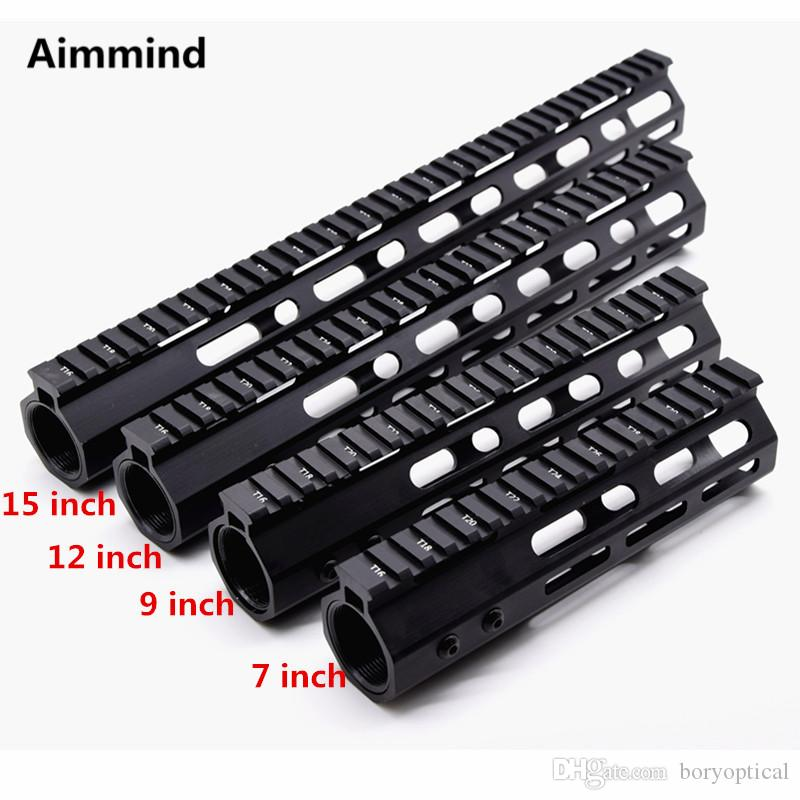 M-Lok 7 9 12 15 inch Slim Free Float M-LOK mlok Handguard Rail Scope Mount with Steel Barn