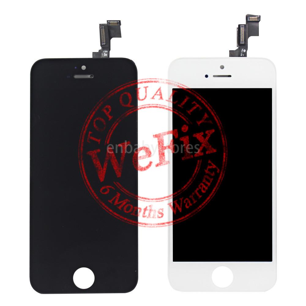 Display Touch Screen Lcd Digitizer Full Assembly For Iphone 5s White Replacement Repair Parts & Free Shipping
