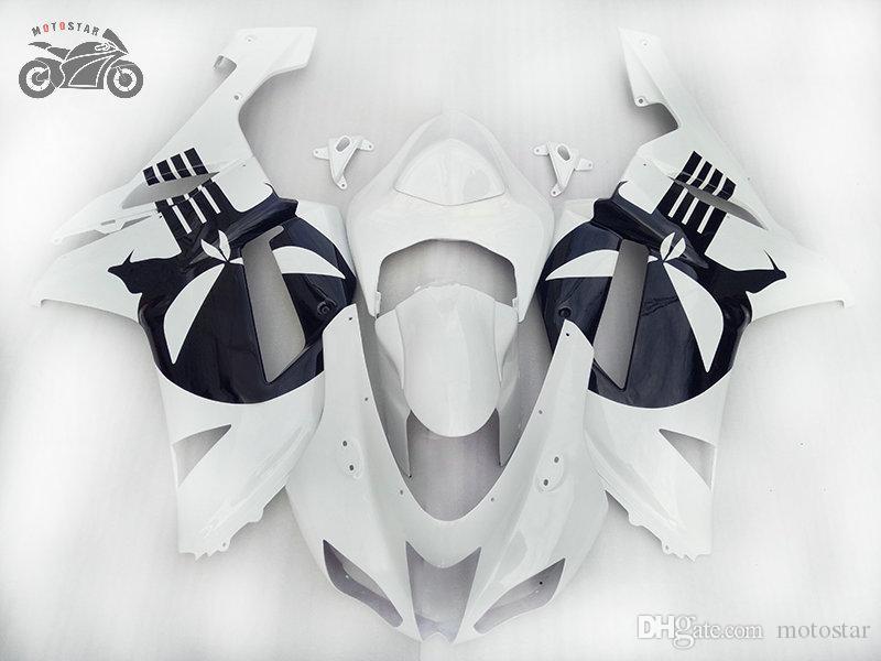 Chinese Fairings for KAWASAKI Ninja 2007-2008 ZX6R ZX-6R 2007 2008 636 07-08 6R 07 08 white black motorcycle body repair fairing bodywork