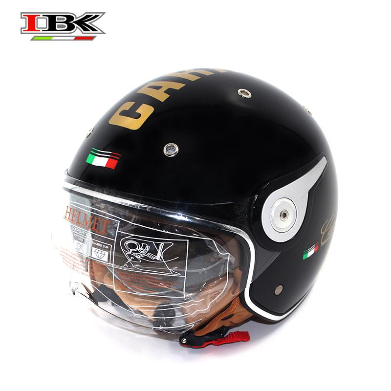 IBK Motorcycle Helmets Electric Bicycle Scooter Casco Casque Unisex 3/4 Face Anti-UV Open Face Dual Lens four season Helmet