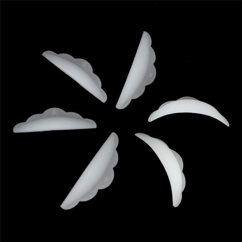 Strumento applicatore ciglia 5 paia Ciglia in silicone Perm Pad Riciclaggio Ciglia Aste Shield Lifting 3D Ciglia Bigodino Accessori per il trucco