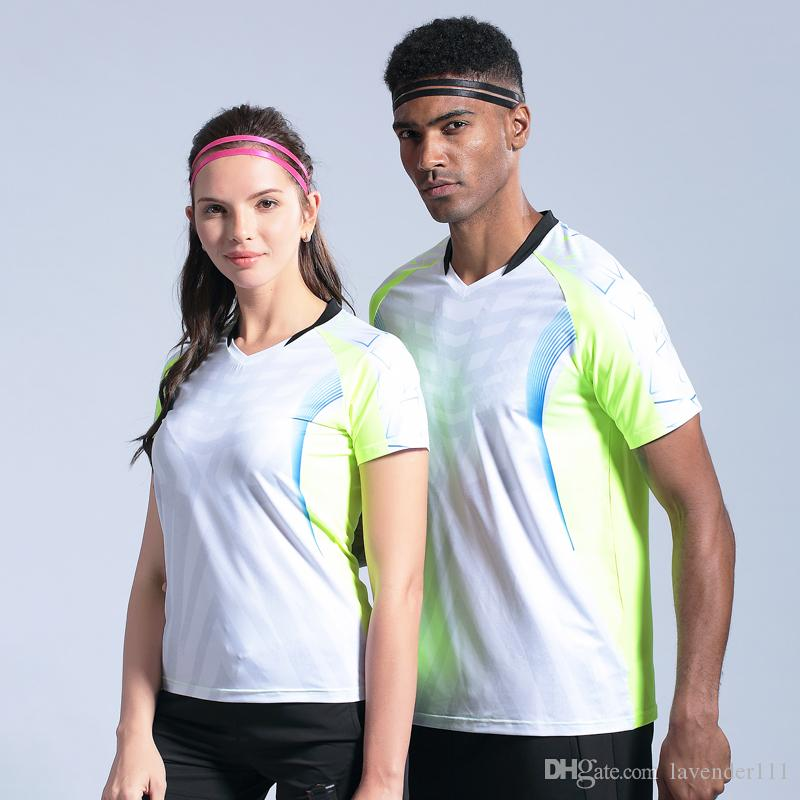 Мужчины Женщины Спортивная одежда Гольф Футболка для настольного тенниса Бег Quick Dry Дышащие бадминтонные майки Спортивная одежда Футболки