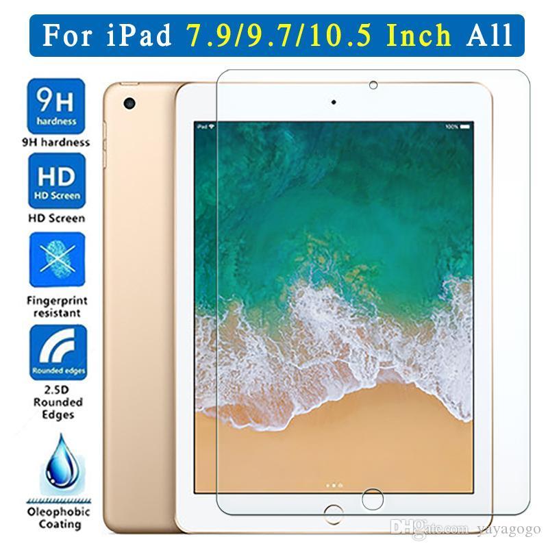 Schutzglas für Apple iPad 9.7 2.018 2.017 10.5 5. 6. Pro Screen Protector temperierte Luft 1 2 Mini 3 4 5 6 Auf Erzeugung TH
