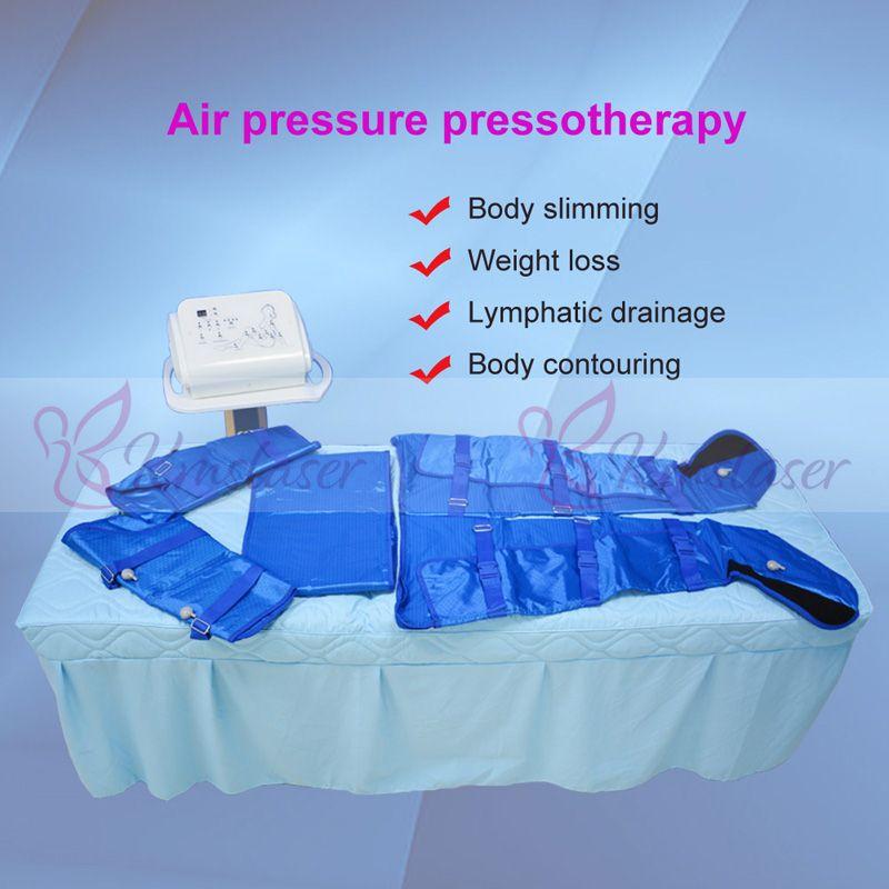 المحمولة الضغط Pressotherapy الهواء آلة التخسيس لالسموم والجسم التفاف تدليك التصريف اللمفاوي