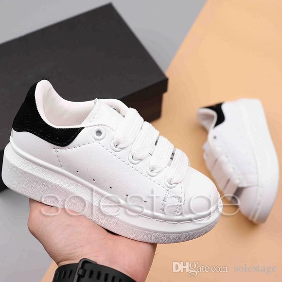 Kids Boy Girl White Mcqn Shoes Niños Baby Fashion Designer Tripe Black Multi Trainer Sneakers High Qaulity Zapatos para correr Eur24-35